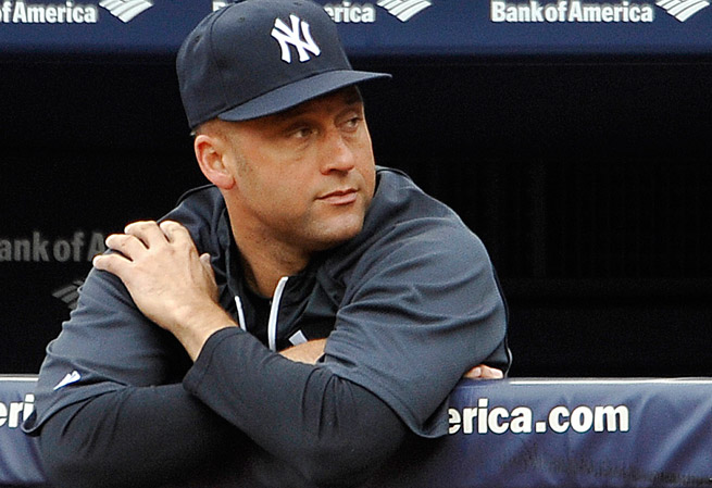 Derek Jeter has missed the entire season so far due to a broken ankle suffered in the 2012 playoffs.
