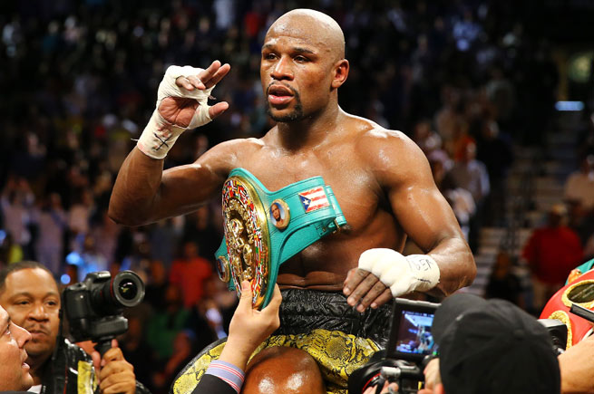 Floyd Mayweather has never lost, but has been plagued by the belief he's dodged tough opponents.