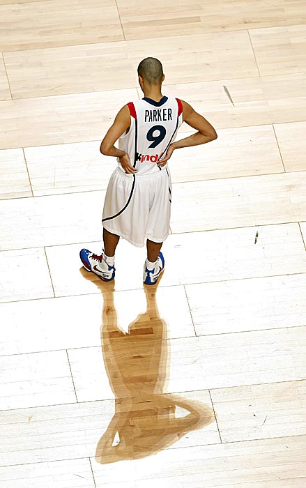 Parker was photographed in this shot during the FIBA Eurobasket 2007 match against Slovenia in Madrid.