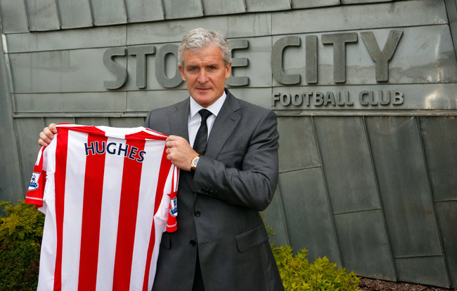 Stoke City will be the fifth Premier League team that Mark Hughes has managed since 2004.