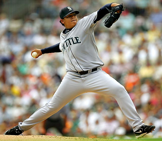 Felix Hernandez was a throwback to the old days, making his debut at age 19. He only gave up three hits in his first outing despite losing, but he would throw eight innings in four of his next five starts and strike out at least six hitters in each game.