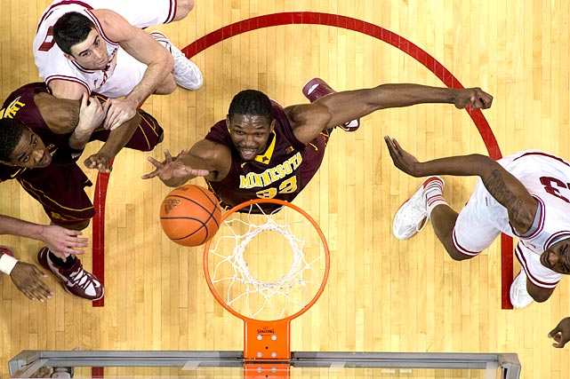 Mbakwe acknowledged at the draft combine that he'll have to answer for some off-court issues, including an assault case that caused him to miss the 2009-10 season and a DWI that nearly led to his dismissal from the Minnesota team last season. He's also less than two years removed from ACL surgery and is already 24 after being granted a sixth year of eligibility in 2012-13. But Mbakwe is an excellent rebounder and hustle player, making him a potential second-round pick.