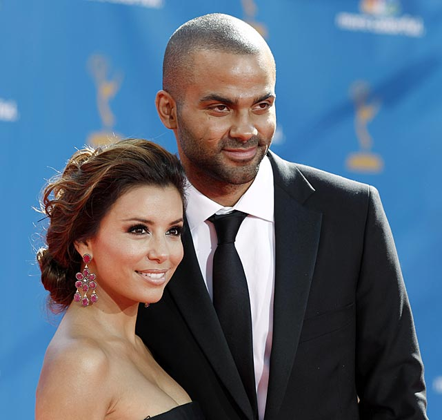 Longoria and Parker arrive at the 2010 Primetime Emmy Awards in Los Angeles.