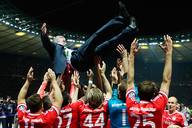 The win was the last game for Bayern coach Jupp Heynckes, who will be replaced by Pep Guardiola.