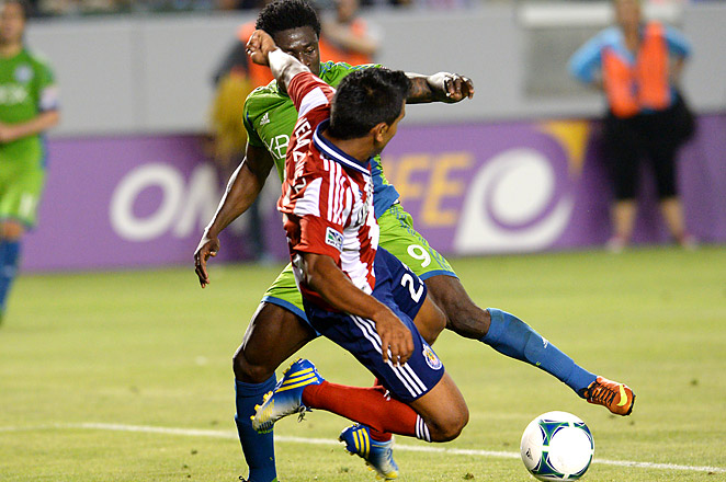 The Seattle Sounders were able to knock off lowly Chivas USA in an entertaining game of the day.
