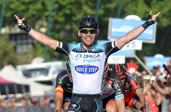 Italy's Elia Viviani finished the 118-mile second stage in 4 hours, 39 minutes and 15 seconds.