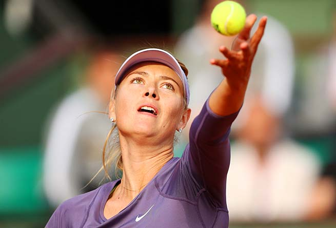 No. 2 Maria Sharapova is trying to defend her title at Roland Garros.