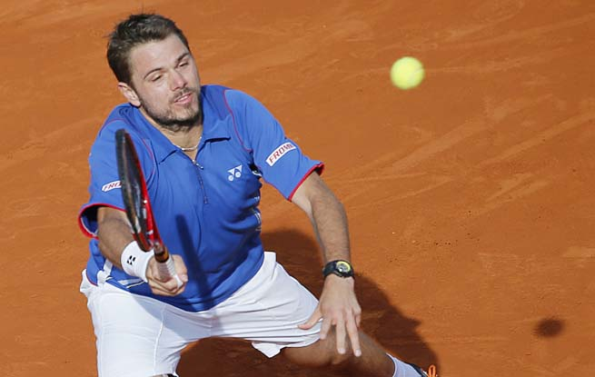 Stan Wawrinka will face No. 3 seed Rafael Nadal in the quarterfinals.