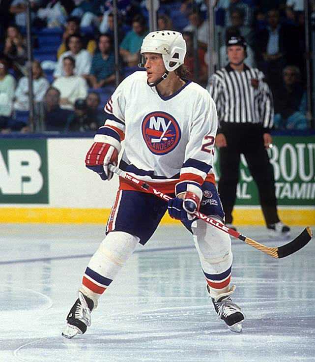 The 10th round, 1984 draft pick was a two-time 20-goal scorer for the Isles, but he produced only eight during the 1992-93 season. He was pretty much an afterthought on the night in Pittsburgh when he dethroned Mario Lemieux's two-time defending Stanley Cup champion Penguins in overtime of Game 7 in the Wales Conference semifinals. The decisive tally was Volek's second of the game.