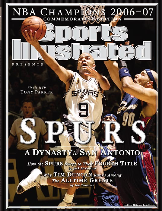 SI's commemorative issue following the Spurs third championship with Parker as point guard and the fourth in franchise history.
