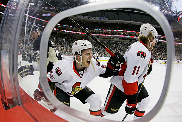 After his Achilles tendon was sliced 70 percent by a skate blade on Feb. 13, 2013, Ottawa Senators defenseman Erik Karlsson wasn't expected to play again until the next season. Almost miraculously, he was back in action in time for the playoffs in which his team upset Montreal in the first round before falling to Pittsburgh. Though not at 100 percent, Karlsson still routinely logged more than 25 minutes of ice time per game while producing a goal and seven assists in 10 games.