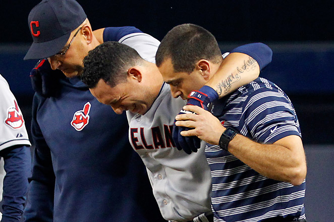 Manager Terry Francona says he thinks Cabrera could miss three to four weeks with a quad injury.