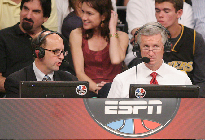 While Jeff Van Gundy may be on for his last Finals, Mike Breen will broadcast his eighth title series.