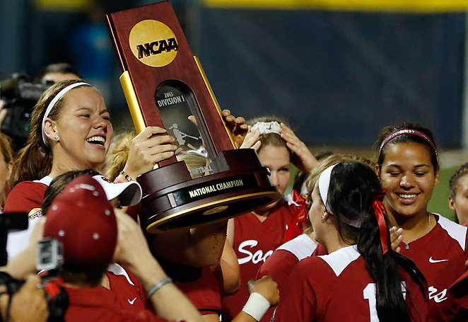 Keilani Ricketts drove in all four runs in Oklahoma's World Series-clinching 4-0 win over Tennessee.