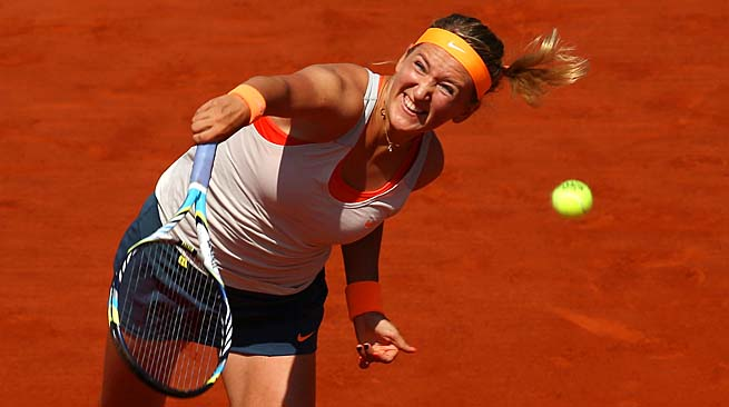 Victoria Azarenka is into her first career French Open semifinal.