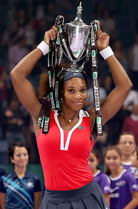 Serena won seven tournaments in 2012, including the WTA Championships in Istanbul.