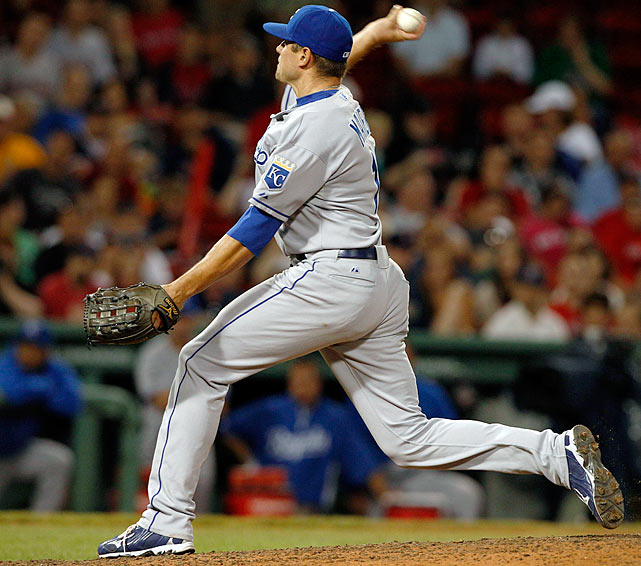 The Royals, who used six pitchers in Monday night's 14-inning game against the Red Sox, used five more Tuesday in their 13-9 loss, turning to outfielder Mitch Maier in the eighth. It was the 10th time in franchise history that a position player has pitched for Kansas City. Maier allowed only one hit, a double to David Ortiz.