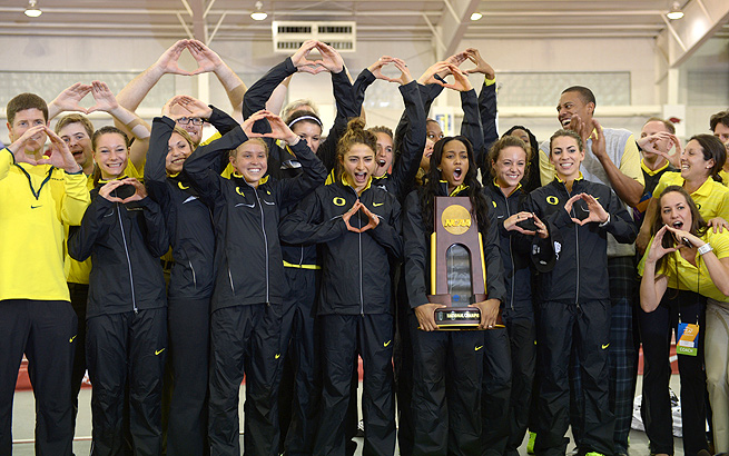 Oregon women's track & field team have already won the NCAA cross country and indoor championships this school year.