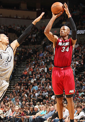 Ray Allen has struggled with his shot in the playoffs, shooting just 38.9 percent from the floor.
