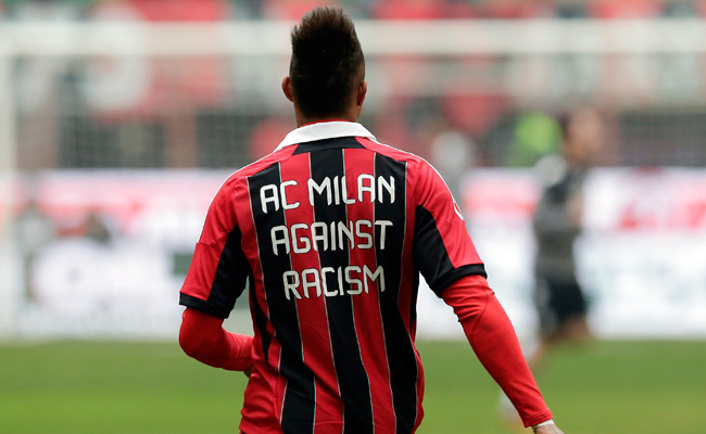 After hearing racist taunts, Kevin Prince Boateng wore this jersey before his next Serie A game.
