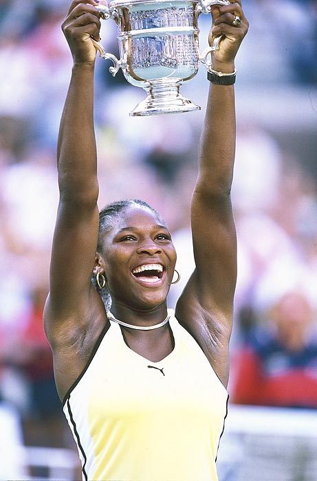 At 17, Serena became the first African-American woman since Althea Gibson to win a Grand Slam title.
