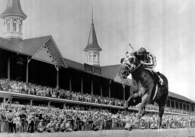 Secretariat's win at Churchill Downs put him in position to become the first Triple Crown winner in 25 years.
