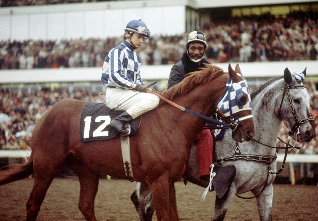 Eddie Maple rode Secretariat to victory at the Canadian International Championship Stakes in October 1973, the final race of Secretariat's career.