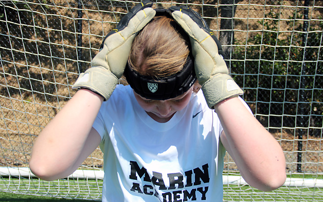 Barish, a goalie at Marin Academy outside of San Francisco, knows that one more concussion will end her athletic career.