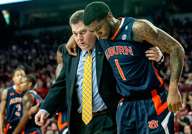 Former Auburn guard Varez Ward is being indicted for trying to fix this January 2012 game at Arkansas.