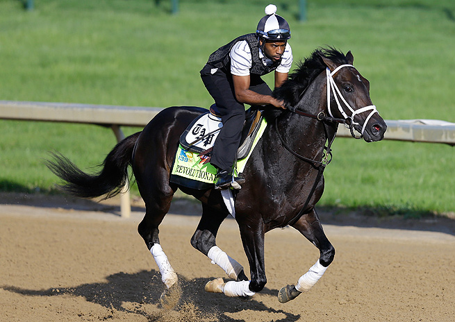 Todd Pletcher's Revolutionary finished third at the Kentucky Derby and sat out the Preakness.
