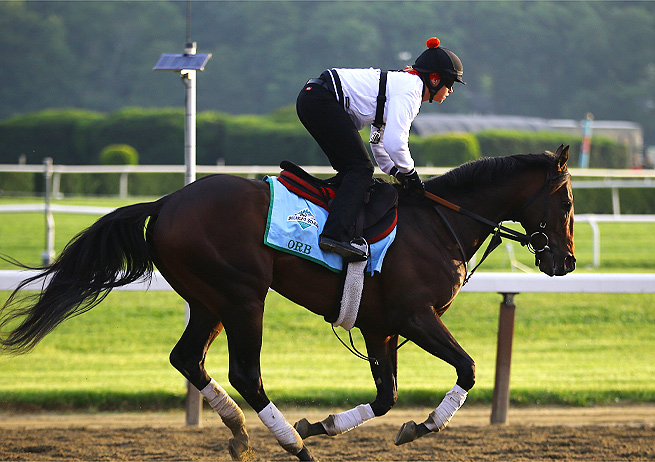 Trainer Shug McGaughey says Orb, the 3-1 favorite for the Belmont Stakes, is in good position for the race.
