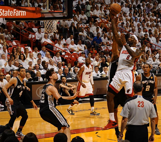 James made just 7 of 16 shots in turnng in his lowest scoring output of the playoffs.