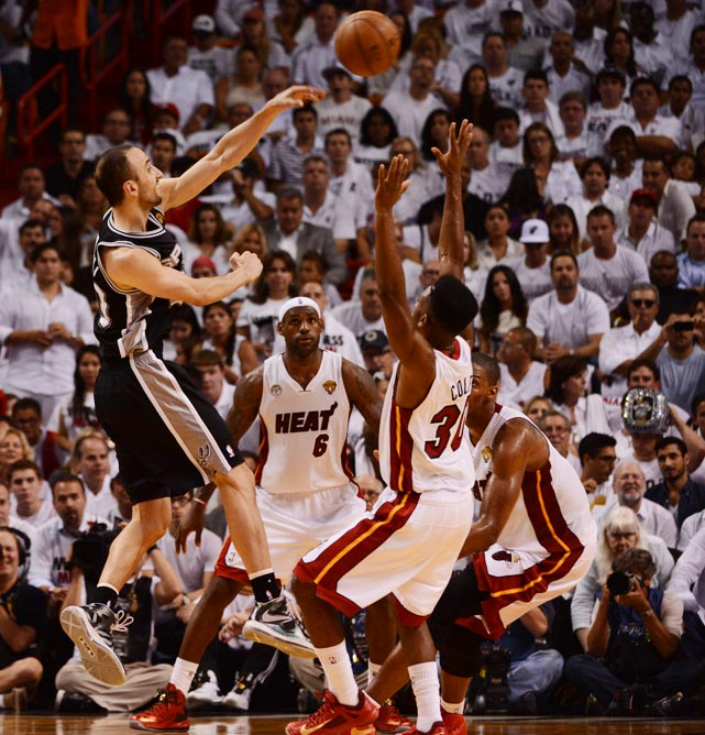 Ginobili and the Spurs tied a playoff record by committing a measly four turnovers.