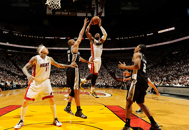 San Antonio held Miami's Big 3 to eight points in the fourth quarter and the Heat to 16 total in Game 1