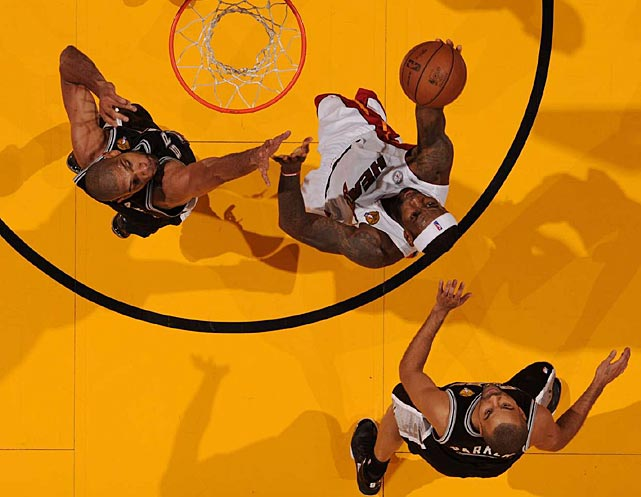 LeBron James had his 10th career triple double in the losing efford: 18 rebounds, 18 points and 10 assists.