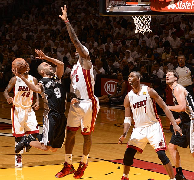 Tony Parker, the series MVP the last time he and LeBron James faced each other in a Finals, finished with 21 points.