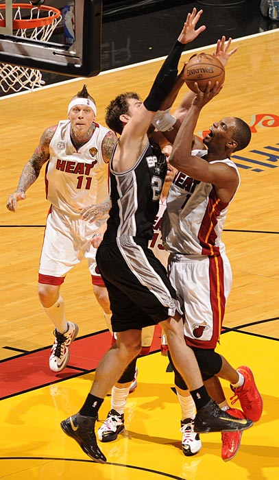 Tiago Splitter logged nearly 25 minutes and finished with one block, two rebounds and seven points.