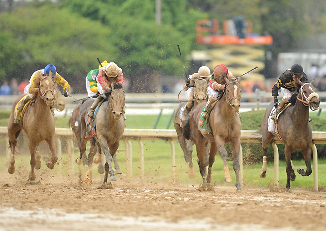 Based on weather forecasts, the upcoming Belmont Stakes is likely to be run on a muddy track, like this year's Kentucky Derby.