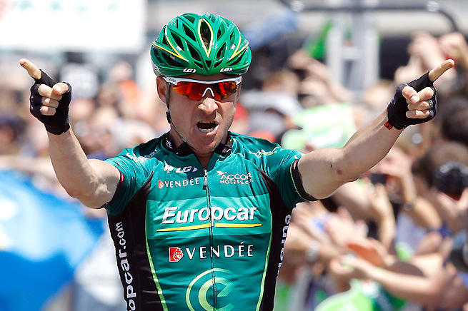Thomas Voeckler held off three other riders in a sprint finish, while Chris Froome retained the yellow jersey.