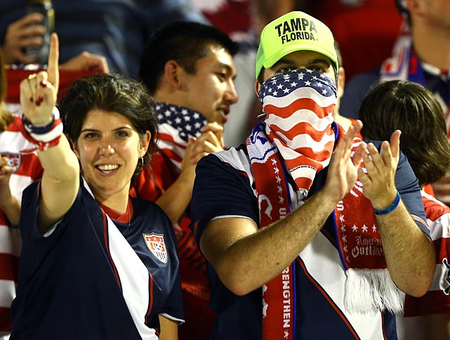 U.S. soccer fans show their pride.