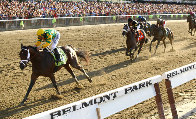 Palace Malice, who finished 12th in the Derby and skipped the Preakness, won the Belmont Stakes.