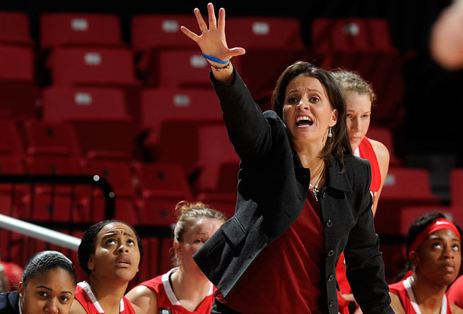 Jennifer Rizzotti was one of five people inducted into the Women's Basketball Hall of Fame.