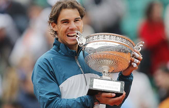 Rafael Nadal has more wins at one major than all in the Open Era save Martina Navratilova (Wimbledon).