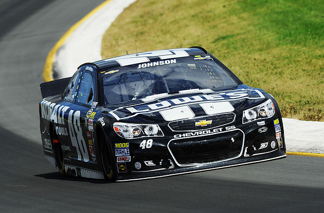 The Lowe's 48 car led 128 of 160 laps and was never seriously challenged Sunday afternoon.