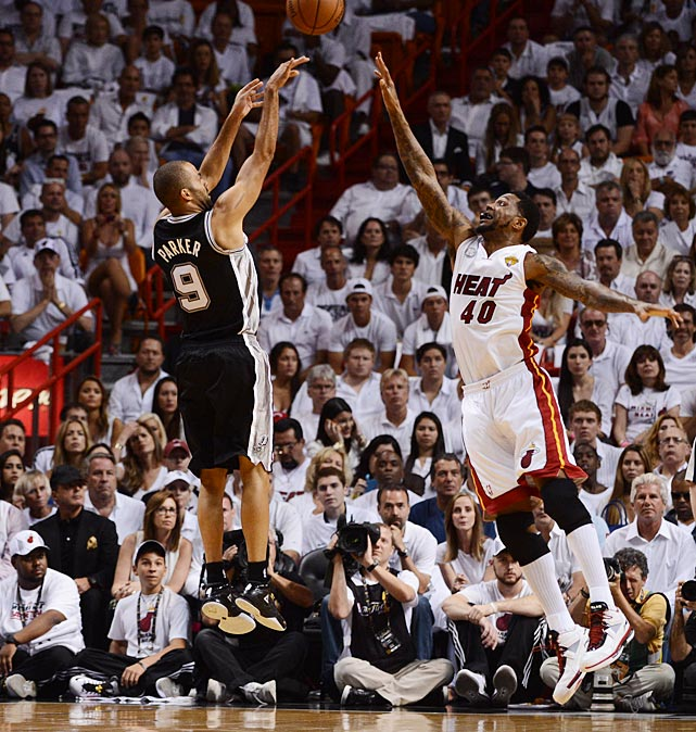 Tony Parker and the Spurs had their seven-game postseason winning streak snapped, as well as a six-game NBA Finals win streak that dated to the 2005 finals.