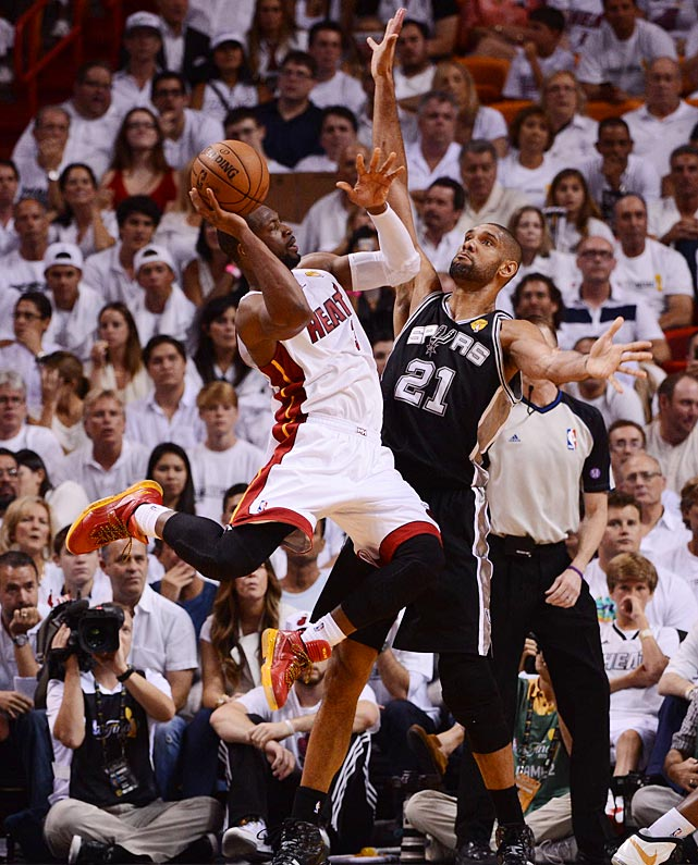 Dwyane Wade scored 10 for Miami, which evened the series at 1-1.