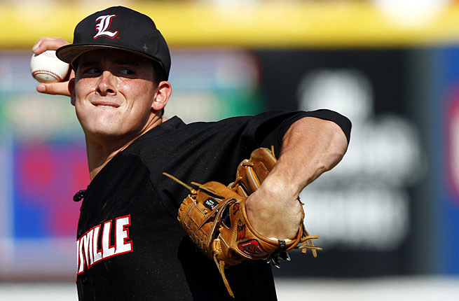 Nick Burdi has helped pitch Louisville to the College World Series this season while impressing pro scouts.