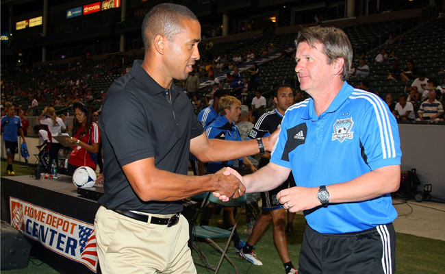 Frank Yallop (right) parted ways with the Earthquakes; San Jose has a 3-6-6 record this season.