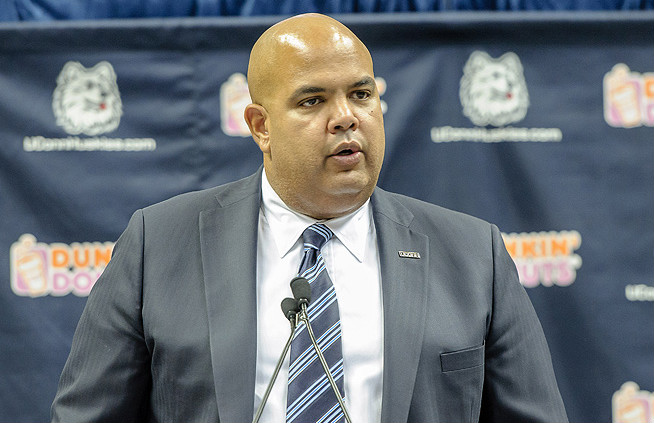UConn AD Warde Manuel says he is proud of the team's academic improvements.