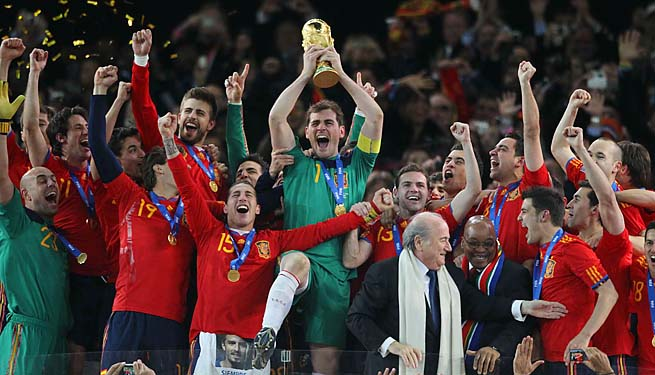 Spain is attempting to become the first back-to-back World Cup champion since Brazil (1958, 1962).